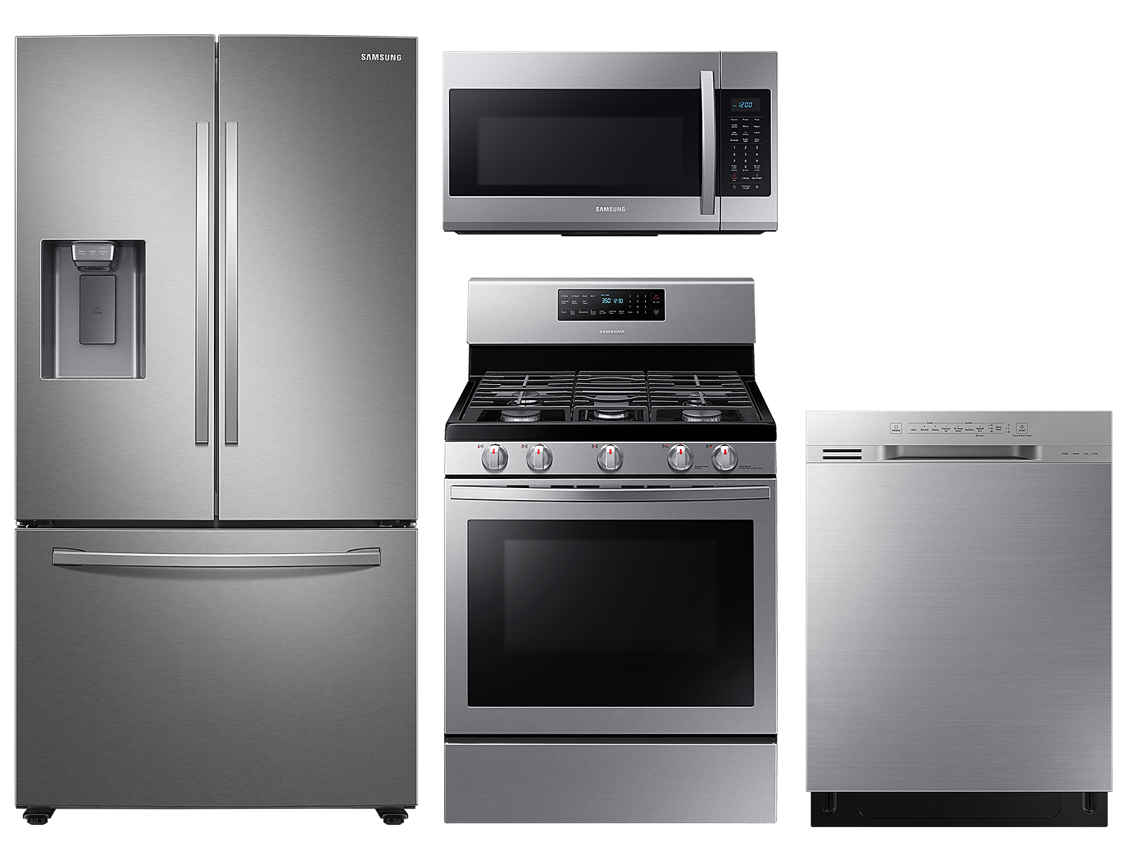 Samsung coupon: Samsung Large capacity 3-door refrigerator & gas range package in Stainless Stainless(BNDL-1590165718885)
