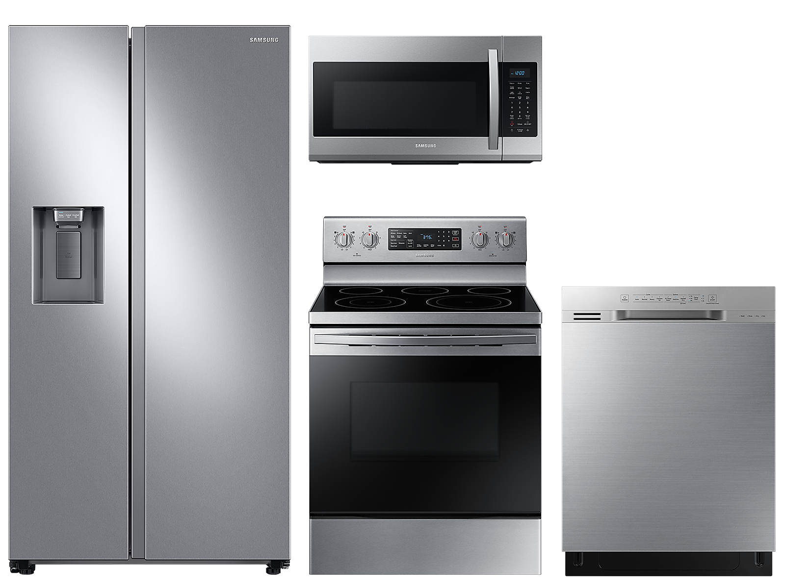 Samsung coupon: Samsung Counter depth Side-by-Side refrigerator & electric range package in Stainless Steel(BNDL-1590169298331)