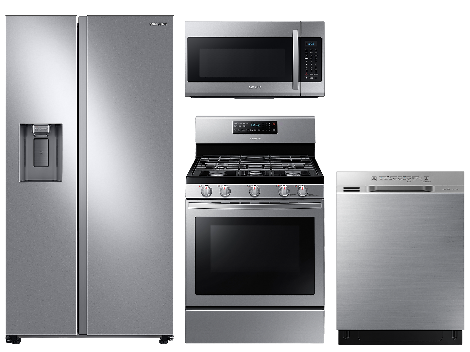 Samsung coupon: Samsung Counter Depth Side-by-Side refrigerator & gas range package in Stainless Steel(BNDL-1590168705840)