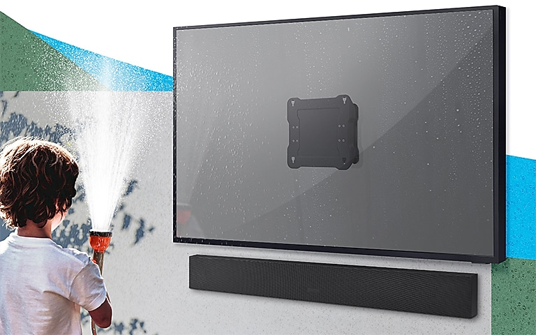 Weather-resistant TV wall mount