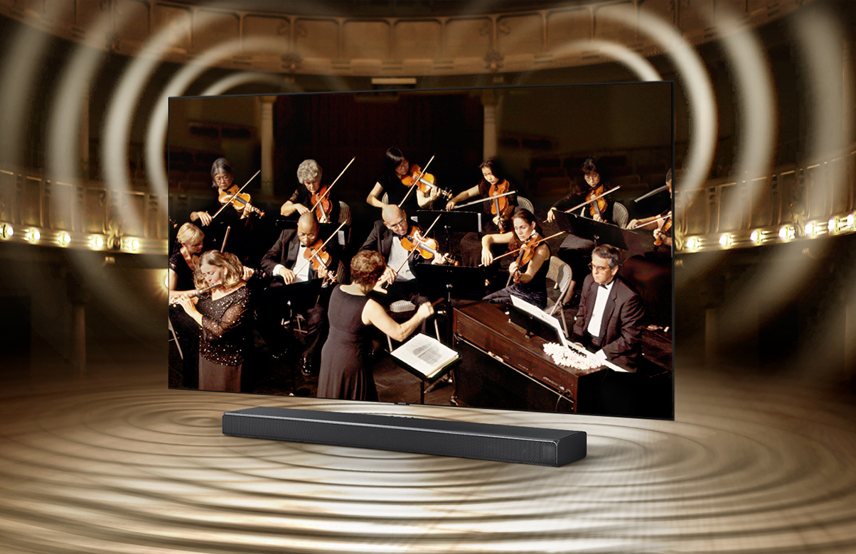 Q Soundbar and TV, the perfect harmony