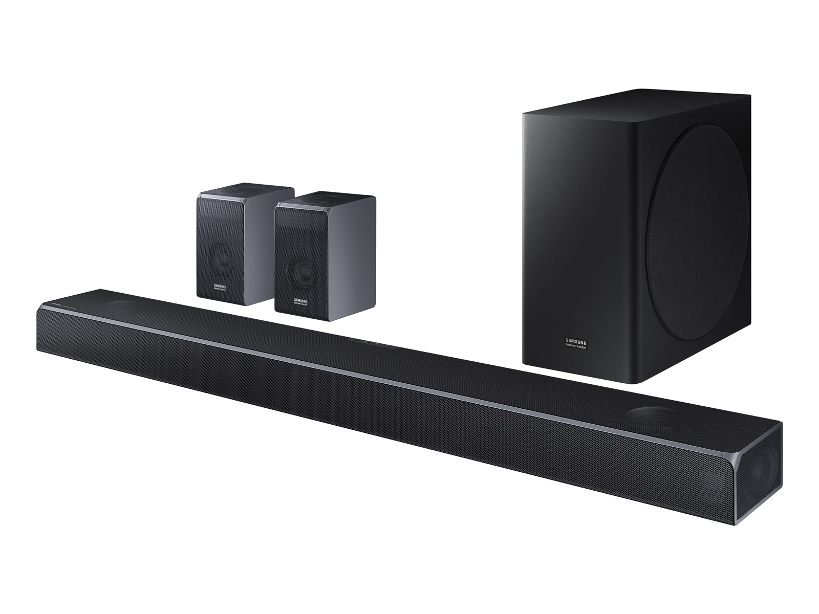 Samsung HW-Q90R Harman Kardon 7.1.4ch Soundbar with Wireless Subwoofer and Rear Speaker Kit
