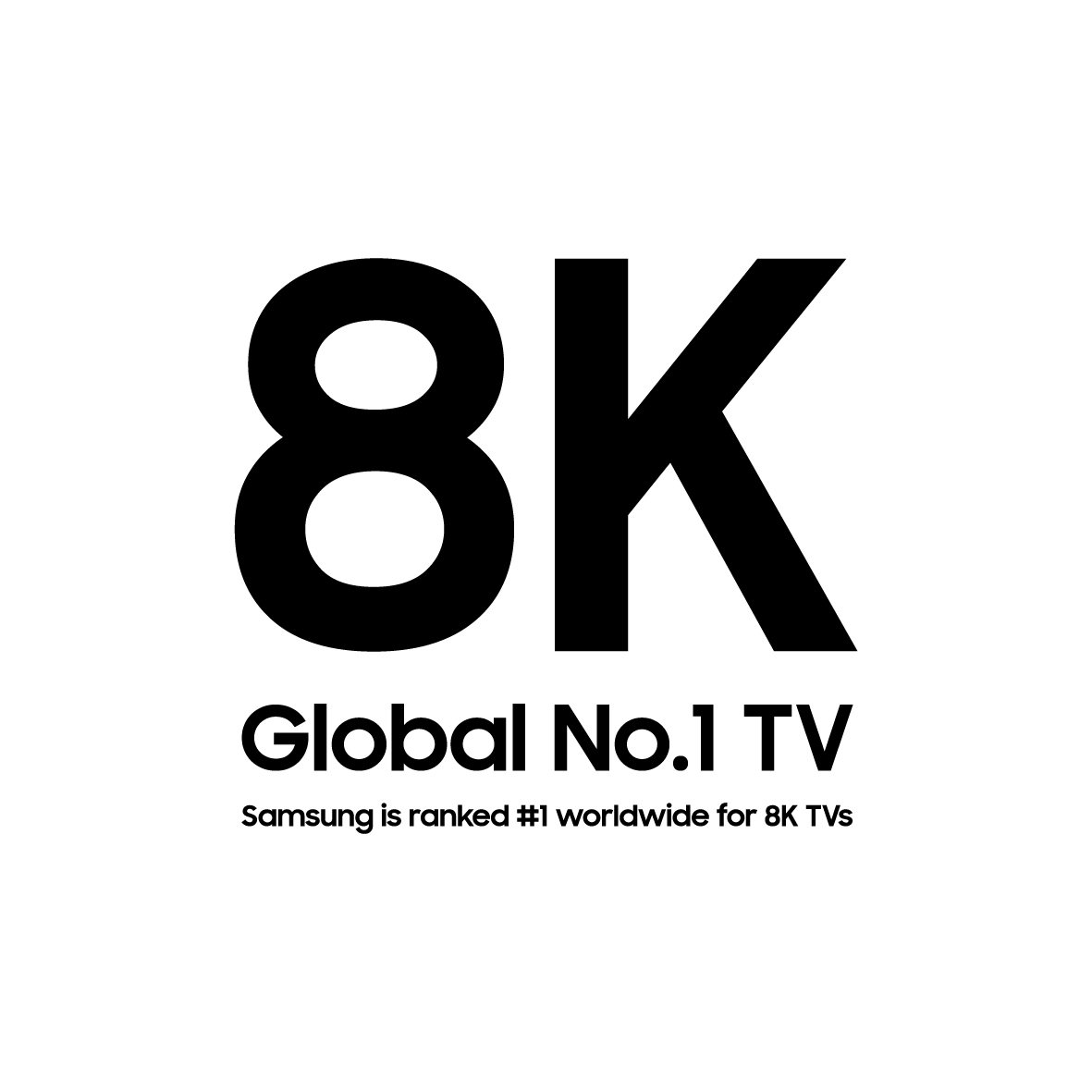 Samsung is ranked #1 worldwide for 8K TVs.ⁿ