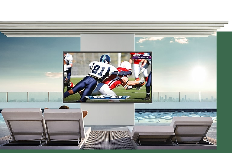 Bright and brilliant— QLED 4K outdoor TV