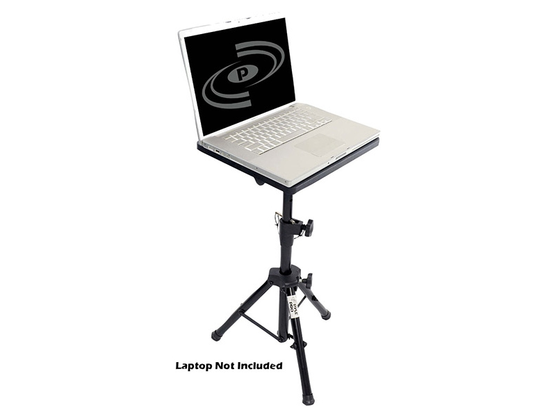 PYLE Pro DJ Laptop Tripod Adjustable Stand For Notebook Computer