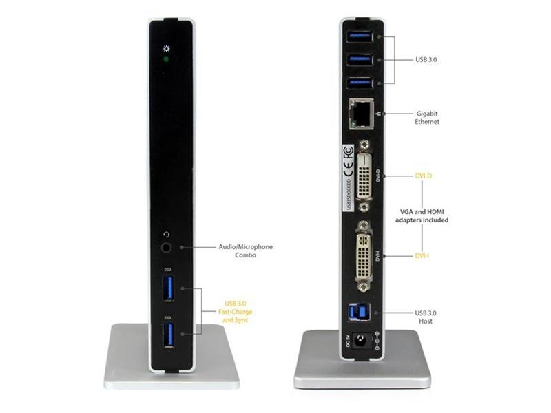 DVI Dual-Monitor Laptop Docking Station