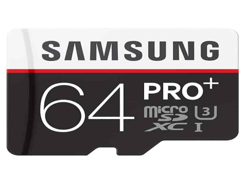 MicroSDXC PRO+ Memory Card w/ Adapter 64GB