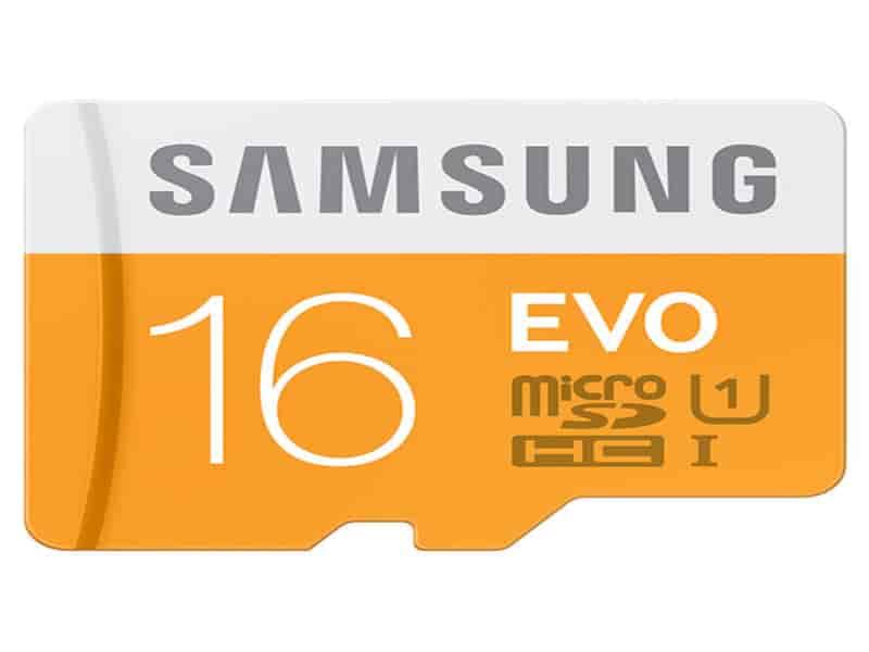 MicroSDHC EVO Memory Card w/ Adapter 16GB