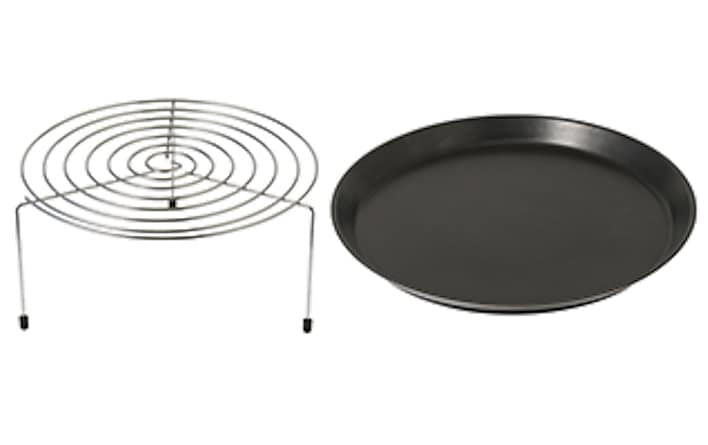 Grilling Element With Round Rack And Ceramic Plate