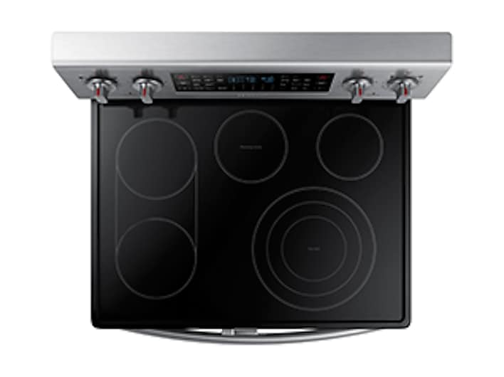 5 9 Cu Ft Electric Flex Duo Range With Soft Close And