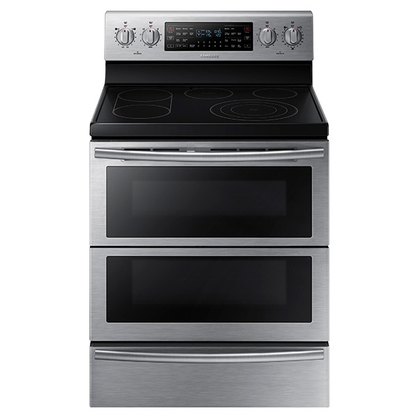 5 9 cu  ft  Electric Flex Duo™ Range with Soft Close and Dual Door™ Ranges  - NE59J7850WS/AA | Samsung US