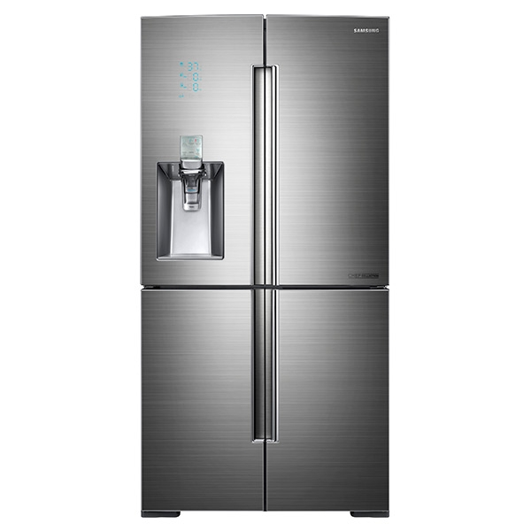 34 cu. ft. 4-Door Flex Chef Collection Refrigerator with Sparkling Water Dispenser in Stainless Steel
