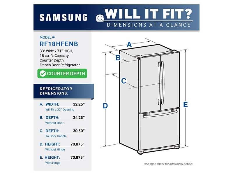 Counter Depth French Door Refrigerator Refrigerators Rf18hfenbsr Aa Samsung Us