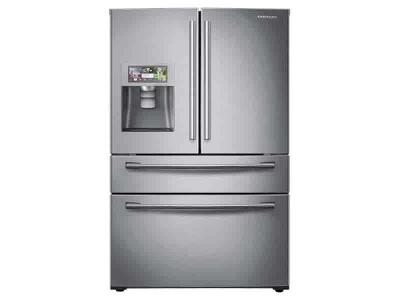 "28 cu. ft. 4-Door Refrigerator with 8"" Wi-Fi Enabled LCD and Counter-Height FlexZone™ Drawer"