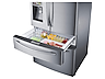 """Thumbnail image of 28 cu. ft. 4-Door Refrigerator with 8"""" Wi-Fi Enabled LCD and Counter-Height FlexZone™ Drawer"""