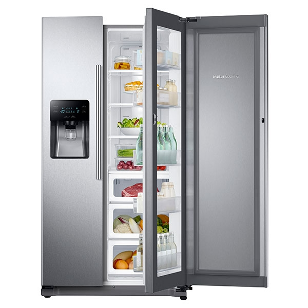 24 7 Cu Ft Side By Side Food Showcase Refrigerator With