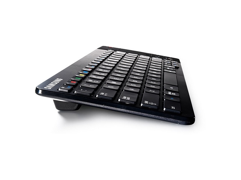 Black Wireless Mini Ultra Slim Keyboard and Mouse For Easy Smart TV Contol for Samsung UE75F6300AK Smart TV