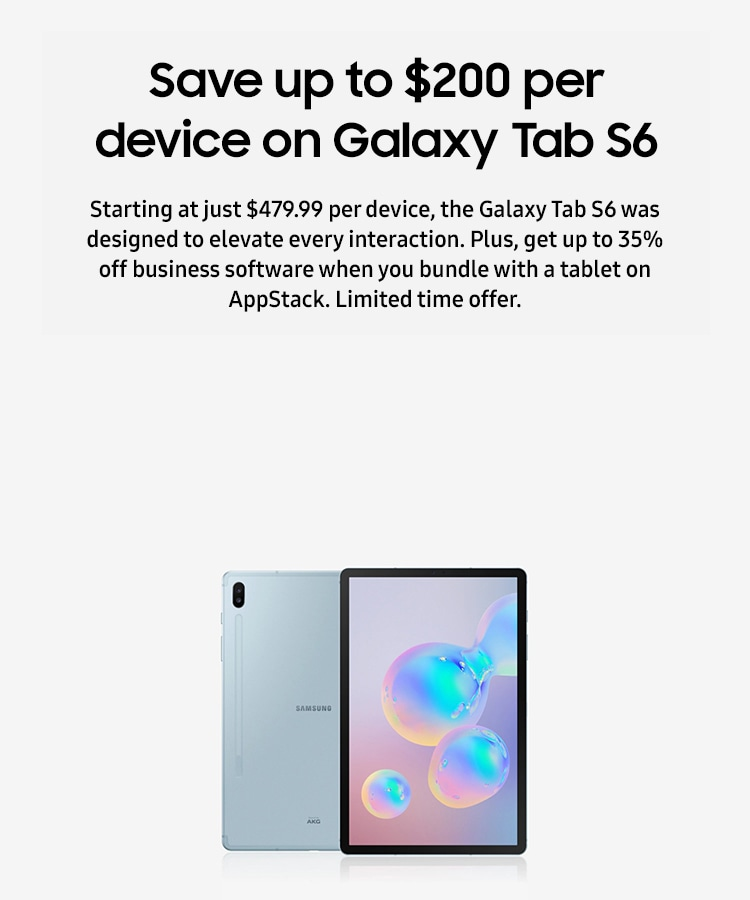 Save up to $200 per device on Galaxy Tab S6