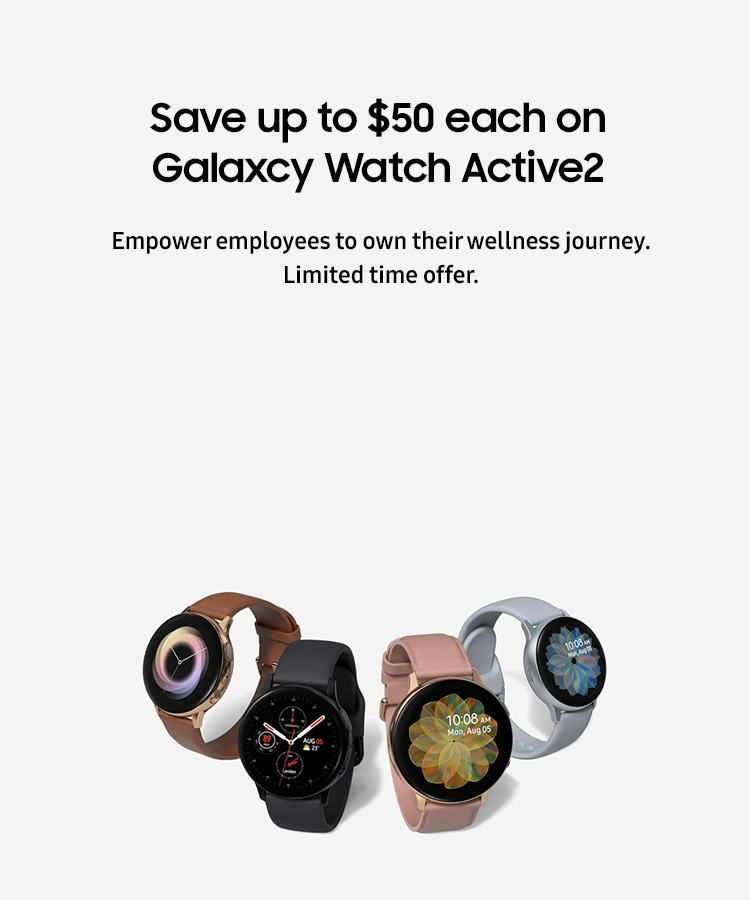 Save up to $50 each on Galaxcy Watch Active2
