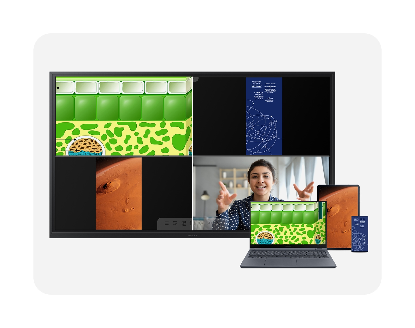 Multi-device casting for enhanced collaboration