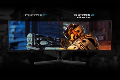 Eye Saver Mode and Flicker Free technology