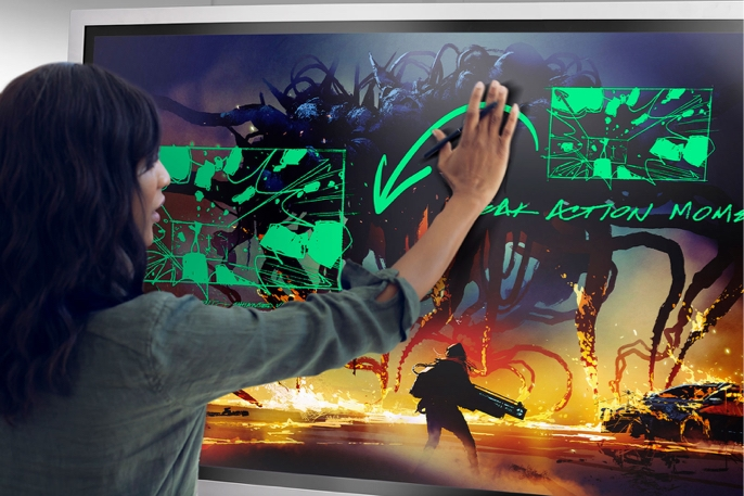 4K UHD interactive display