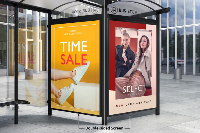 dual-sided outdoor display