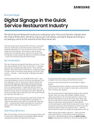 digital signage for quick service restaurants
