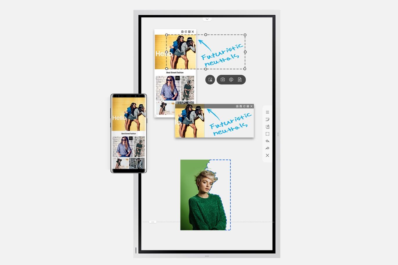 Samsung Flip 2—全新數位屏幕 - PC Flip2 55inch 04 6 1 THREE COLUMN