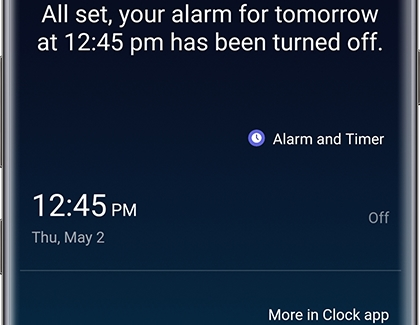 Alarm for Tomorrow at 12:45 pm turned off