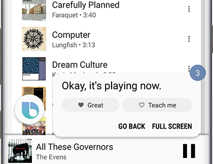 Have Bixby play music on your phone