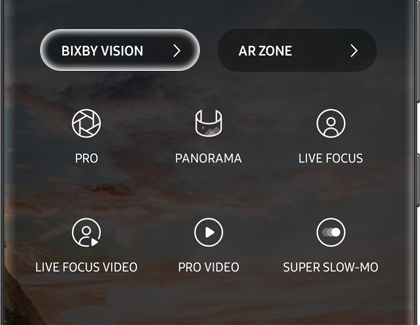 BIXBY VISION highlighted on a Galaxy phone