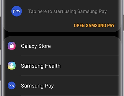 Galaxy Wearable Home screen displaying Samsung Pay