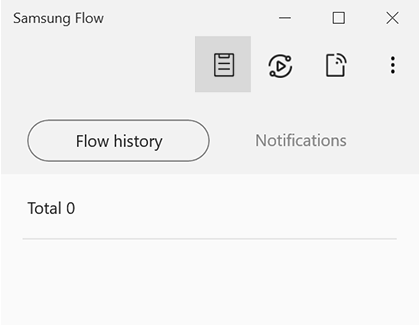 Clipboard icon highlighted in Samsung Flow