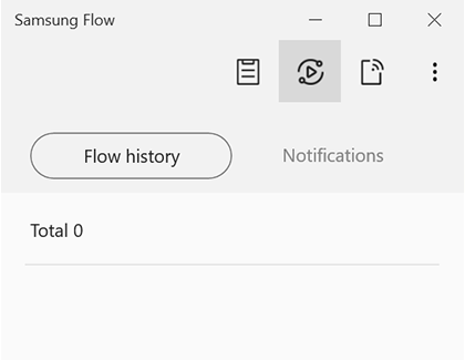Smart View icon highlighted in Samsung Flow
