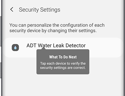 ADT security settings in SmartThings