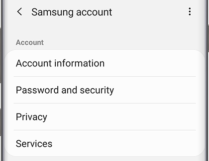 Set Up And Manage Your Samsung Account