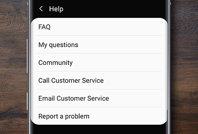 Report Problem Screenshot on Note10