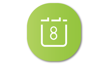 Calendar app icon on Family Hub app