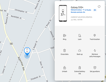 Find your Samsung Galaxy devices