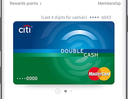 Last 4 digits of Favorite Card displayed in Samsung Pay