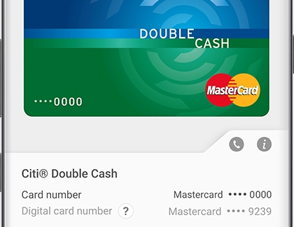 Last four digits of digital card number in Samsung Pay