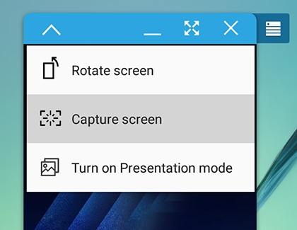 Capture screen highlighted in SideSync