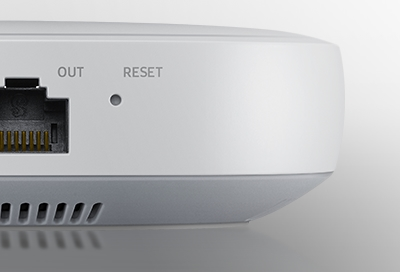 Reset button on the SmartThings Hub