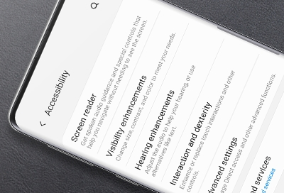 Customize accessibility settings on your phone