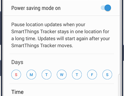 Power Saving Mode for the SmartThings Tracker on