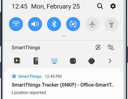 Notifications showing smartthings tracker location