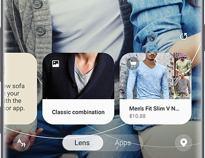 Bixby Vision Lens with Men clothing categories