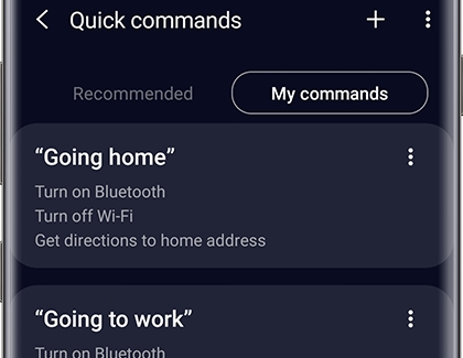 Create quick commands with Bixby