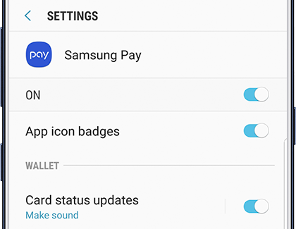 Samsung Pay Notifications Settings